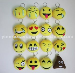 Lovely Emoji Designs PP Cotton Stuffed Plush Keychains Wholesale pictures & photos