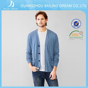 Best Price Luxury Men Cashmere Cardigan Sweater with OEM Service