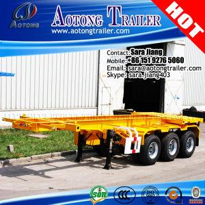 Australia Tri-Axle 20FT Skeleton Container Chassis Semi Trailer pictures & photos