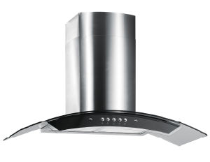 Curved Glass Black Kitchen Appliance Range Hood pictures & photos