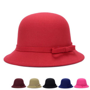 Lady Fashion Cotton Polyester Knitted Winter Bucket Hat (YKY3244) pictures & photos