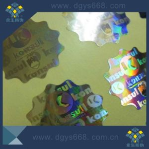 Custom High Quality Pet Material Laser Sticker pictures & photos