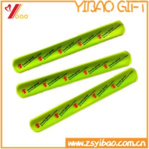 Personalized Printed Logo Reflective Slap Wristband (YB-SL-03) pictures & photos