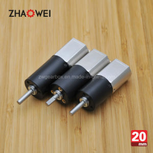 12V 20mm Low Rpm High Torque DC Spur Gearbox Motor pictures & photos
