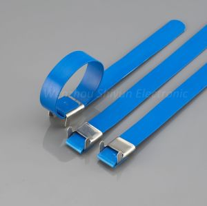 PVC Covered Stainless Steel Cable Ties-L Lock Type 12X400mm pictures & photos