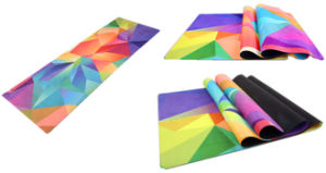Colorful Flowers Printed Yoga Mat, Full Length Sports Mat pictures & photos