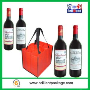 Cheap Recycle Non Woven Wine Bottle Shopping Bag pictures & photos