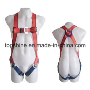 Polyester Standard Professional Industrial Adjustable Full-Body Harness Safety Belt pictures & photos