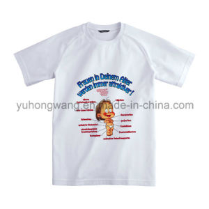 Customized Cotton Men′s Printed T-Shirt pictures & photos