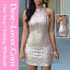 Sexy Sparkling Sequin Tank Dress pictures & photos