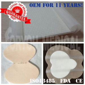 2016 Top Premium Foryou Surgical Antibacterial Silicone Coated Foam Dressing pictures & photos