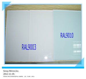 4mm 5mm High Quality Back Painted Glass with Cat-I Film and Cat-II Film for Preventing People pictures & photos