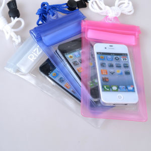 Customized Logo Promotional Clear PVC Waterproof Mobile Phone Cases (YKY7266) pictures & photos