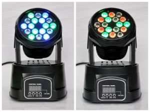 18PCS 3W Mini LED Moving Head Light for Stage Disco pictures & photos