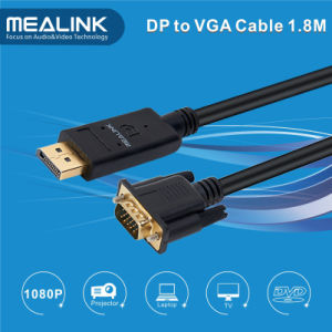 1.8m Displayport Dp to VGA Cable pictures & photos