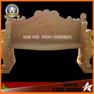 Beige Marble Stone Carving Two Seat Bench for Garden Decoration (NS-11B1) pictures & photos
