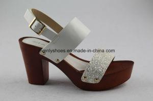 Block Heel Design Women High Heel Shoes for Summer pictures & photos