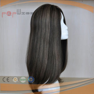 Human Hair Untouched Color Full Lace Skin Top Wig pictures & photos