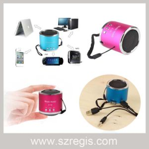 New MP3 Audio Loud Sound Mini Speaker Support TF Card pictures & photos
