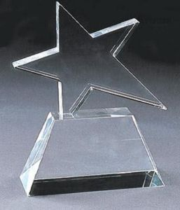 Crystal Glass Trophy with Star pictures & photos