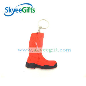 Personalized PVC Keychain in The Shape of Boots pictures & photos