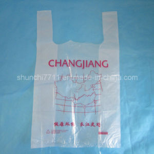 Raw Material Color PE Vest Shopping Bag pictures & photos