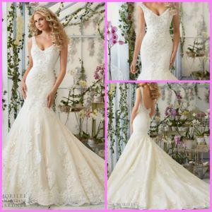 Sleeveless Bridal Ball Gown V-Neck Mermaid Wedding Dresses Mrl2814 pictures & photos