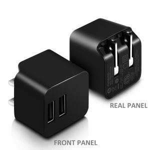 2-Port USB Power Adapter with Foldable Plug for iPhone pictures & photos