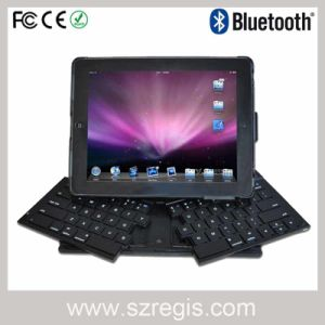 Skype Foldable Wireless Bluetooth Keyboard with Headset for iPad2/iPad3 pictures & photos