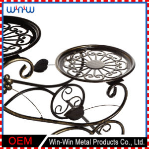 Metal Display Stand New Designs Metal Craft Fine European Style Iron Flower Stand pictures & photos