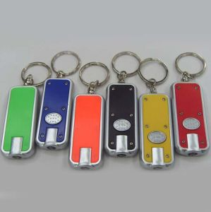 Custom Cheap Light Keychain with Logo Printed (4053B) pictures & photos
