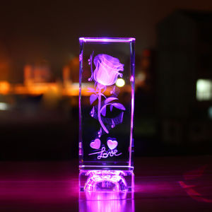 3D Laser Crystal Glass Cube Craft for Crystal Gift pictures & photos