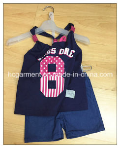 Kid Girl Children Sport Suit Baby Clothes, Shirt and Pants pictures & photos