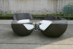 Outdoor Rattan Folding Round Ball Sofa Set (MTC-056) pictures & photos