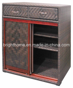 Hand Weaving Shoe Cabinet Indoor and Outdoor Use Bp-S51 pictures & photos