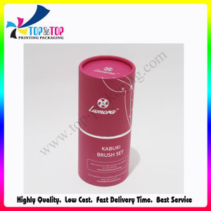 Rose Color Hot Stamping Cylinder Gift Box for Make up Tools pictures & photos