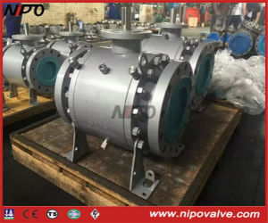 3-PCS Forged Steel Flanged Trunnion Ball Valve pictures & photos