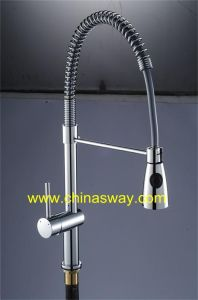 Kitchen Sink Faucet with Spring, with Movable and Retractable Spout (SW-0984) pictures & photos