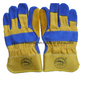 Cut Resistant Leather Working Glove Made in Gaozhou China pictures & photos
