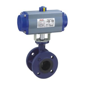 Pneumatic Butterfly Valve (flanged type) pictures & photos