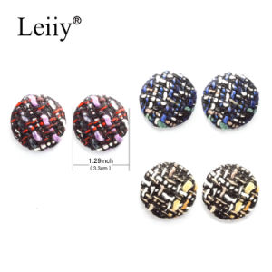 Large Round Multicolored Woolen Handmade Weaving Women Jewellery Stud Earrings pictures & photos
