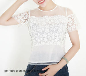 Hot Sale Women Clothes High Quality Sweet Ladies Chiffon T-Shirt pictures & photos