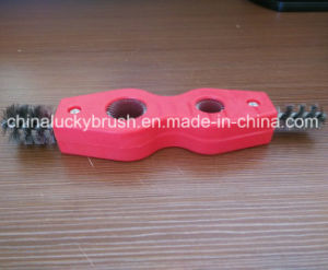 Two Holes Stainless Steel Wire Tube Industrial Brush (YY-532) pictures & photos