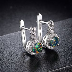 Best Quality 18K Gold Jewellery Opal Drop Clip Earring Factory pictures & photos
