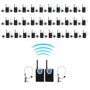 2.4GHz Professional Tp-Wireless Tour Guide System for Teaching, Simultaneous Translation, Meeting, Museum Visiting 2 Transmitter 30 Receiver pictures & photos