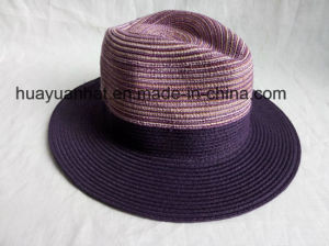 80%Paper 20%Polyester Purple Color Safari Hats pictures & photos