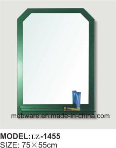 Modern European Design Green Frame Mirror with Shelf pictures & photos
