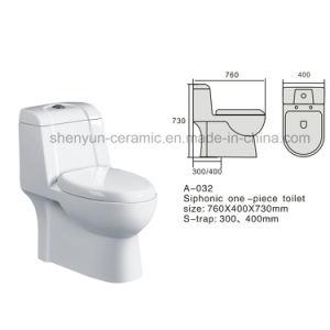 One-Piece Toilet Ceramic Color Toilet (A-032) pictures & photos