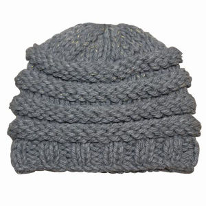 Women Fashion Wool Acrylic Knitted Winter Warm Beanie Hat (YKY3115) pictures & photos