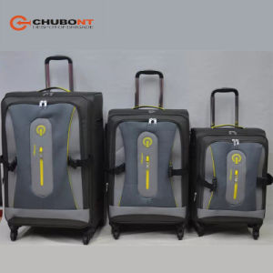 Chubont Design Waterproof Nylon and PU Material 3PCS Sets Travel Trolleycases pictures & photos